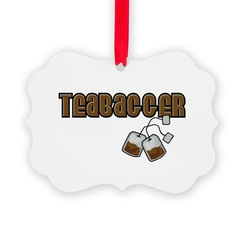 Teabagger Picture Ornament