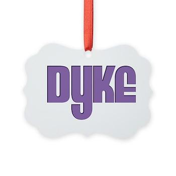 Purple Dyke Picture Ornament