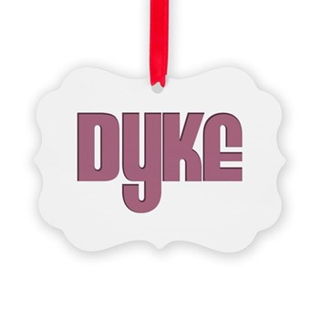 Pink Dyke Picture Ornament