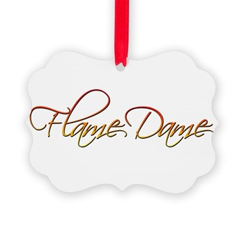 Flame Dame Picture Ornament
