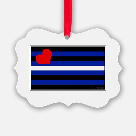 Leather Pride Flag Ornament
