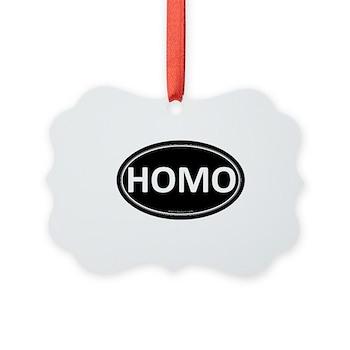 HOMO Black Euro Oval Picture Ornament