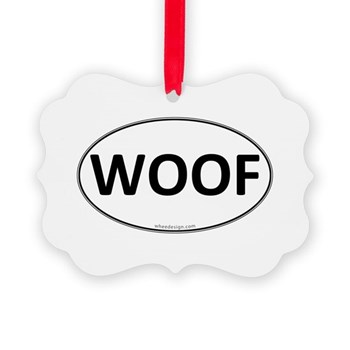 WOOF Euro Oval Picture Ornament