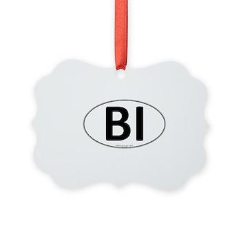 BI Euro Oval Picture Ornament
