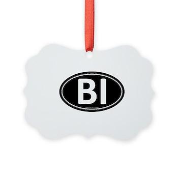 BI Black Euro Oval Picture Ornament