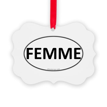 FEMME Euro Oval Picture Ornament