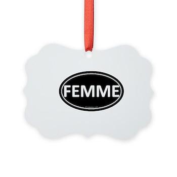 FEMME Black Euro Oval Picture Ornament