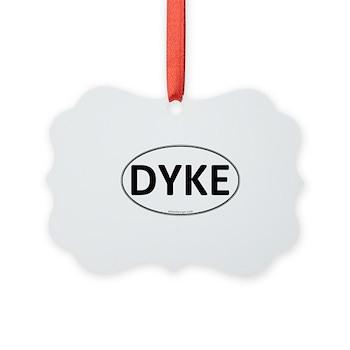 DYKE Euro Oval Picture Ornament