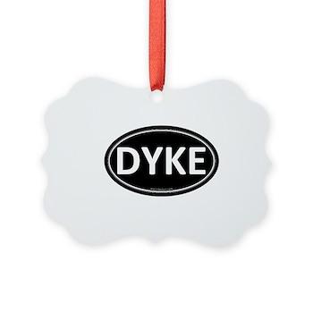 DYKE Black Euro Oval Picture Ornament