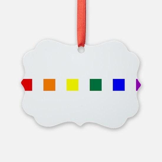 Rainbow Pride Squares Ornament