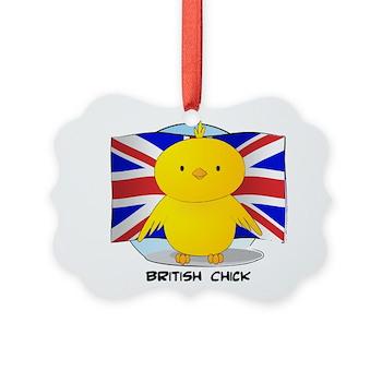 British Chick Picture Ornament