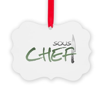 Green Sous Chef Picture Ornament
