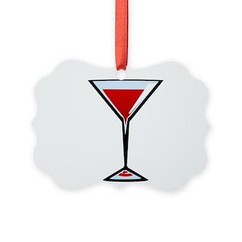 Vampire Martini Picture Ornament