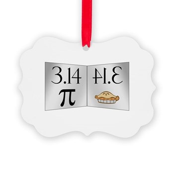 PI 3.14 Reflected as PIE Picture Ornament