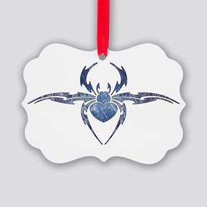 Tribal Spider Tattoo Picture Ornament