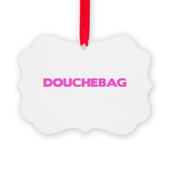 Douchebag Picture Ornament