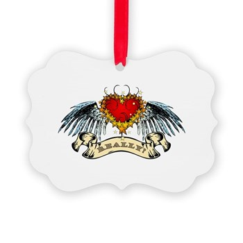 Really? Winged Heart Picture Ornament