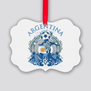 Argentina Soccer Picture Ornament