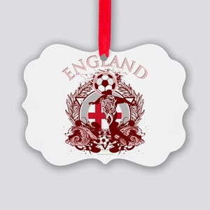 England Soccer Picture Ornament