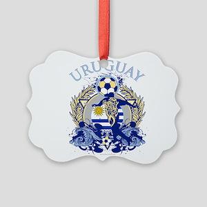 Uruguay Soccer Picture Ornament
