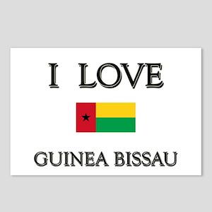I Love Guinea Bissau Postcards (Package of 8)