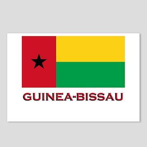 Guinea Bissau Flag Merchandise Postcards (Package