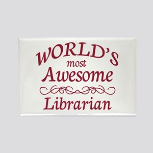 Awesome Librarian Rectangle Magnet
