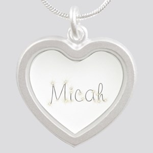Micah Spark Silver Heart Necklace