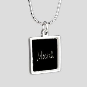 Micah Spark Silver Square Necklace