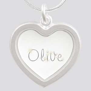 Olive Spark Silver Heart Necklace
