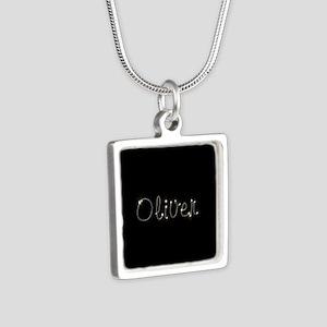Oliver Spark Silver Square Necklace