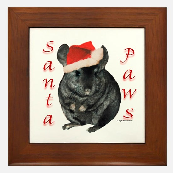 Chin Santa (black tov) Framed Tile