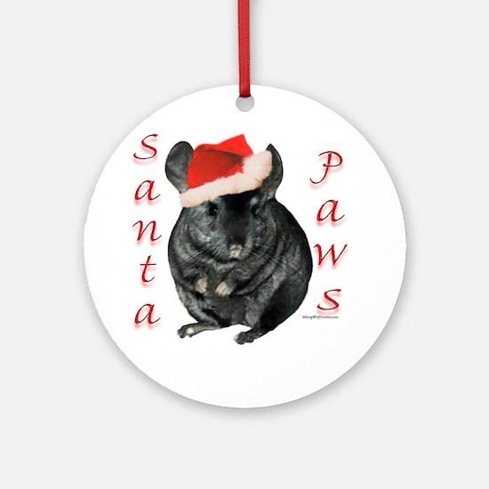 Chin Santa (black tov) Ornament (Round)