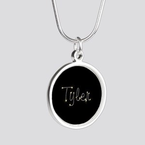 Tyler Spark Silver Round Necklace