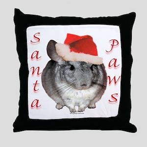 Chin Santa (standard) Throw Pillow