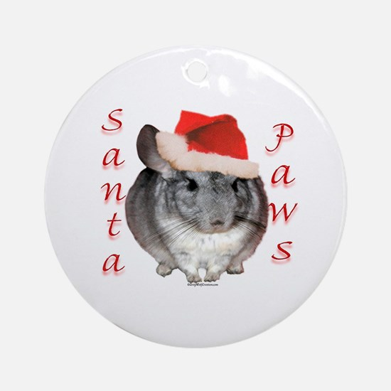 Chin Santa (standard) Ornament (Round)