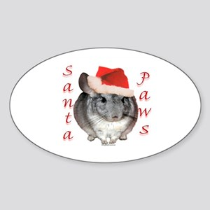 Chin Santa (standard) Oval Sticker