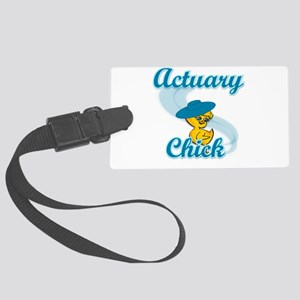 Actuary Chick #3 Large Luggage Tag