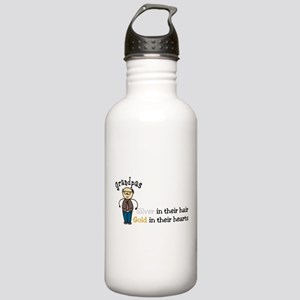 Silver Hair Stainless Water Bottle 1.0L