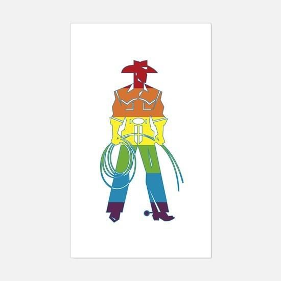 The Gay Cowboy Sticker (Rectangle)