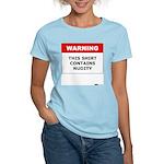 Warning This Shirt Contains N Women's Pink T-Shirt