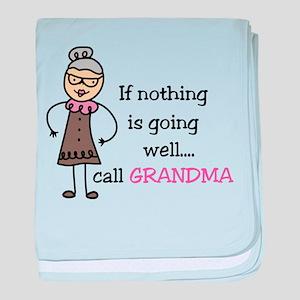 Call Grandma baby blanket