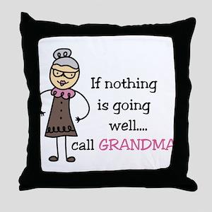 Call Grandma Throw Pillow