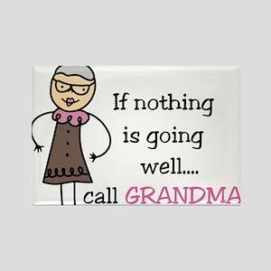 Call Grandma Rectangle Magnet