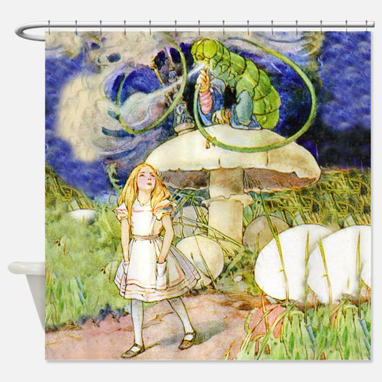 Alice Asks Advice From the Caterpil Shower Curtain