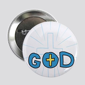 """Awesome God 2.25"""" Button"""