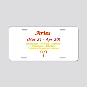 Aries Description Aluminum License Plate