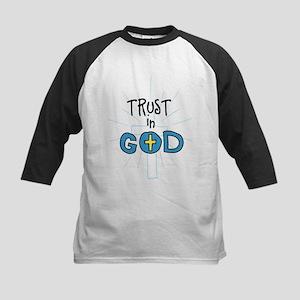 Trust In God Kids Baseball Jersey