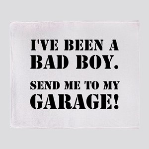 Bad Boy Garage Throw Blanket