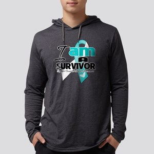 I am a Survivor - Cervical Cance Mens Hooded Shirt